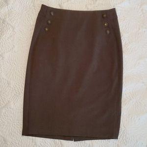 Olive color pencil skirt